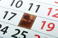 Calendar sidan Royaltyfri Foto