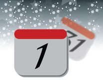 Calendar sidan Arkivbild