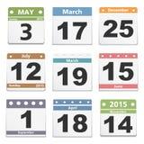 Calendar sidor Arkivbild