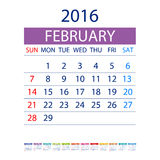 2016 calendar simple design vector date template month. 2016 calendar simple design ART vector date  template month Stock Image