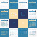 Calendar 2016 Royalty Free Stock Image