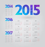 Calendar. Simple calendar with figures of geometric shapes Stock Image