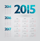 Calendar. Simple calendar with figures of geometric shapes Royalty Free Stock Photography