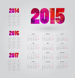 Calendar. Simple calendar with figures of geometric shapes Stock Photo