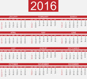Calendar 2016 simple happy new year. For web Stock Images