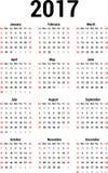 Calendar 2017 vector illustration