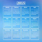 Calendar 2015. Royalty Free Stock Photo
