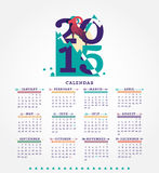 2015 Calendar. Simple 2015 Calendar Vector illustration typography. Chinese symbol of year Stock Photography