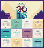 2015 Calendar. Simple 2015 Calendar Vector illustration typography. Chinese symbol of year Royalty Free Stock Photography