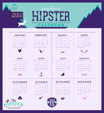 2015 Calendar. Simple 2015 Calendar Vector illustration typography. Chinese symbol of year Stock Image
