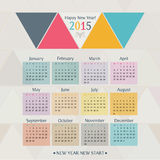 2015 Calendar. Simple 2015 Calendar Vector illustration typography. Chinese symbol of year stock illustration