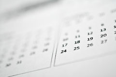 Calendar Royalty Free Stock Images