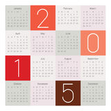 Calendar 2015. Simple calendar for 2015 year Royalty Free Illustration