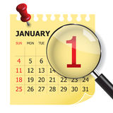 Calendar 2015. Simple calendar for 2015 year Stock Photography