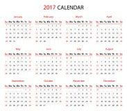 The 2017 calendar Stock Photo