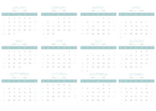 2017 Calendar simply blue on white background | business week and monthly design Stock Photos