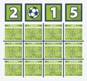 Calendar 2015 Royalty Free Stock Photo