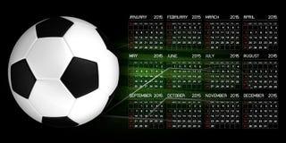 Calendar 2015 Soccer. Sport Background Stock Photography