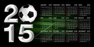 Calendar 2015 Soccer. Calendar 2015 Sport Soccer Background Royalty Free Stock Photo