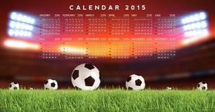 Calendar 2015 Soccer. Sport Background Stock Images