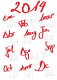 Calendar 2014 Spanish. Modern 2014 calendar Spanish Vector Illustration