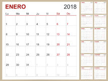Calendar 2018 Royalty Free Stock Photo