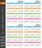 Calendar 2018-2021 Stock Image
