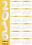 2016 calendar spanish. 2016 vector calendar in Spanish. Easy for edit and apply. Calendario 2016 Royalty Free Illustration