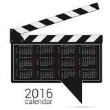 Calendar 2016 on a speech bubble vector. Calendar 2016 on a speech bubble color vector Stock Photos