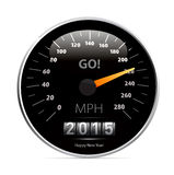 Calendar 2015 in speedometer car. 2015 year Calendar speedometer car. Vector illustration royalty free illustration