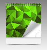 Calendar with spiral bind and abstract mosaic cover. For creative design Stock Images