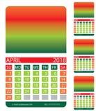 Calendar spring Royalty Free Stock Photography