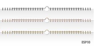 Calendar springs-mockup esp10. Realistic images of spirals for reverts. Silver, black, aluminum, for calendars, albums, notebooks. Layouts mockup for design vector illustration