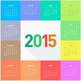 Calendar 2015 - square pattern Stock Images