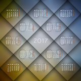 2017 calendar. With squares. diagonal design Stock Photo