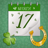 Calendar for St. Patrick's Day Stock Photos