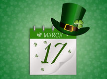 Calendar for St. Patrick's Day Stock Image