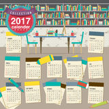 2017 Calendar Starts Sunday Education Concept. 2017 Calendar Starts Sunday Education Concept Vector Illustration stock illustration