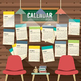 2017 Calendar Starts Sunday Library Concept. 2017 Calendar Starts Sunday Library Concept Vector Illustration royalty free illustration