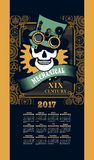 Calendar 2017 steam punk Royalty Free Stock Photos