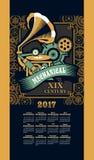 Calendar 2017 steam punk Royalty Free Stock Image