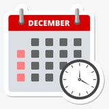 Calendar sticker December, Meeting Deadlines sticker Royalty Free Stock Photo