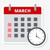 Calendar sticker March, Meeting Deadlines sticker Royalty Free Stock Image