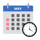 Calendar sticker May, Meeting Deadlines sticker Stock Photos