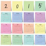 Calendar sticker 2015 vector Royalty Free Stock Photography