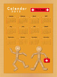 Calendar Sticking plaster Figure 2012. First aid royalty free illustration