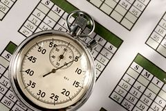 Calendar and stopwatch Stock Photos