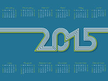 Calendar with striped 2015 text. New calendar design with striped 2015 text Royalty Free Stock Photos