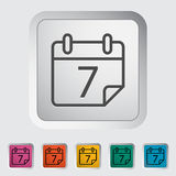 Calendar stroke icon. On the button. Vector illustration Stock Photos