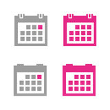 calendar symbolen Royaltyfri Foto